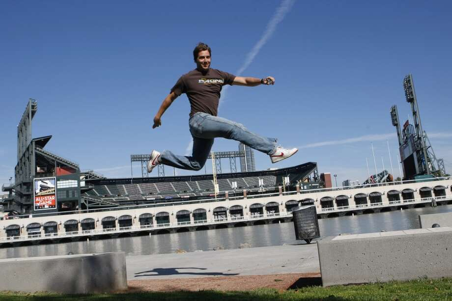 Jonny Moseley, Olympic gold medal skier, named AT&T Park as one of his favorite places in San Francisco. Photo: Deanne Fitzmaurice, SFC
