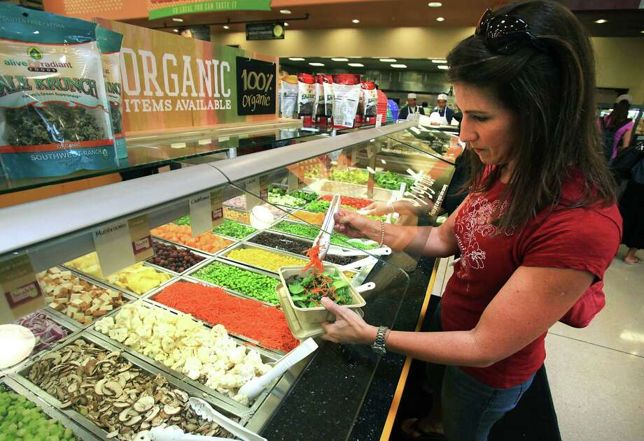 Whole Foods' new location at 18403 Blanco Road outside Loop 1604, in The Vineyard Shopping Center, has so many items, you may never want to leave. There is another location in the Alamo Quarry Market, at 255 E. Basse Rd, Ste. 130; www.wholefoodsmarket.com. Photo: Bob Owen, San Antonio Express-News / © 2012 San Antonio Express-News