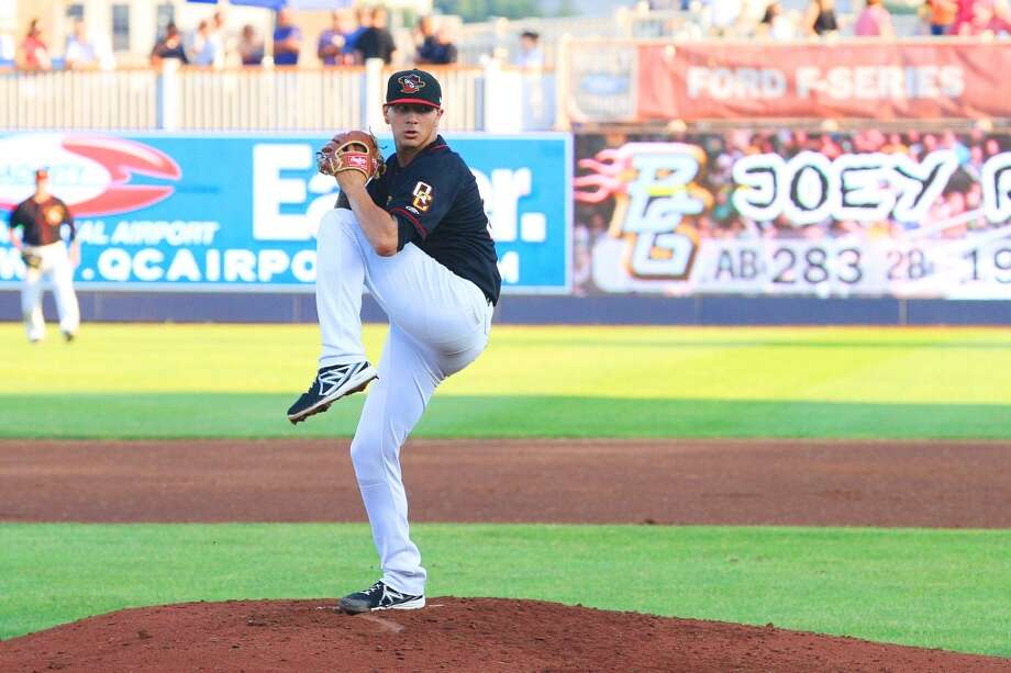 "10. Vincent Velasquez, RHP Bats: Switch hitter; Throws: Right Drafted: 58th overall (2nd round) in 2010 by Houston Age: 21; Height: 6' 3""; Weight: 203 Velasquez compiled a 9-6 record through 19 starts with the Quad Cities River Bandits (A Full) and the Lancaster JetHawks (A Adv) in 2013. He struck out 142 batters in just over 124 innings of work while walking only 41 batters. His fastball (mid 90s), effective curve and reliable change combo give him a nice three-pitch mix. Photo: Photo Courtesy Of The Houston Astros"