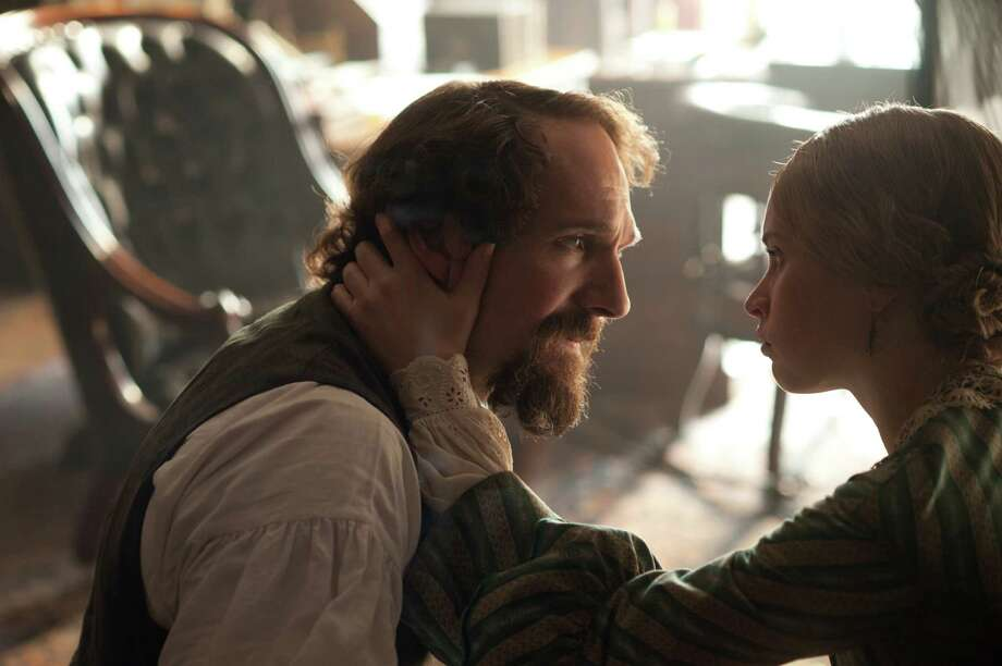"Ralph Fiennes stars as Charles Dickens and Felicity Jones as Nelly Ternan, in ""The Invisible Woman."" Photo: David Appleby, HOEP / Sony Pictures Classics"