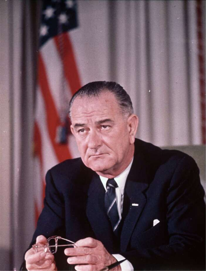 Lyndon B. Johnson was the 36th President of the United States from 1963-1969. He was born in Stonewall, Texas. Photo: Anonymous, HO / WHITE HOUSE