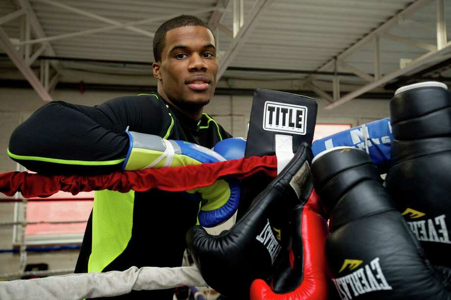 Chordale Booker poses for a photo at Revolution Fitness and Training in Stamford, Conn., on Thursday, January 16, 2014. Photo: Lindsay Perry / Stamford Advocate