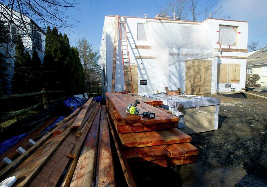 Diane and Chris Murphy's Old Greenwich home, which is being built with styrofoam and concrete, on Wednesday, January 15, 2014, on Shore Road. Photo: Lindsay Perry / Stamford Advocate