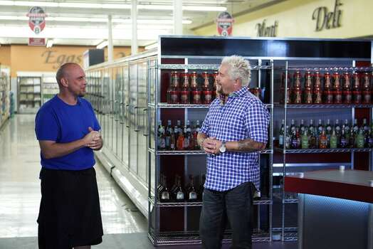 Houston chef Shane Miller (with host Guy Fieri) was featured on Food Network's 'Guy's Grocery Games.' Photo: Anders Krusberg, © 2013, Television Food Network, G.P.  All Rights Reserved / © 2013, Television Food Network, G.P.  All Rights Reserved