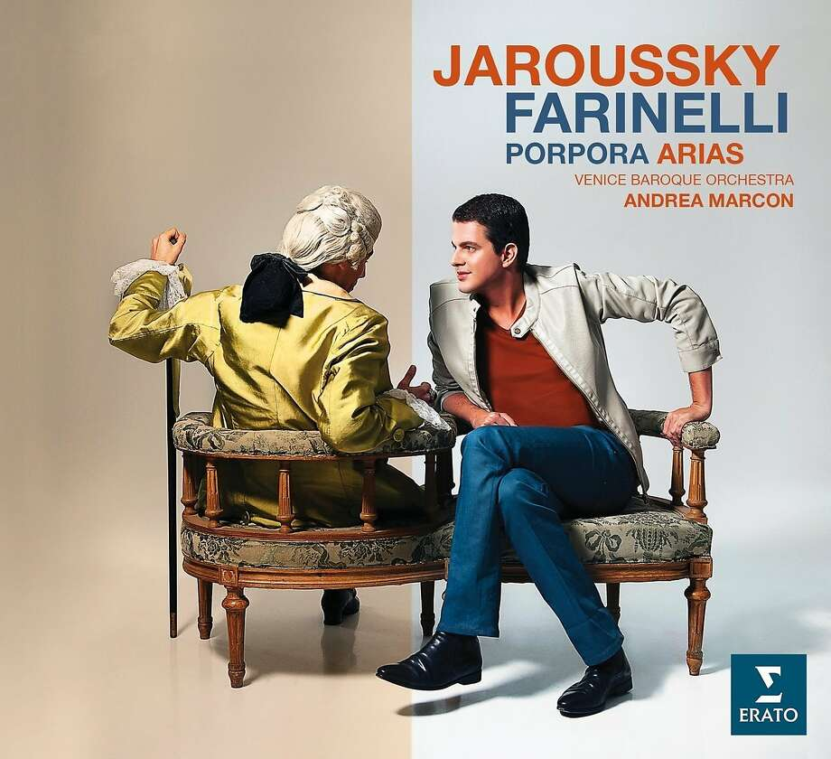 """cd cover: """"Arias for Farinelli"""" performed by Philippe Jaroussky. Photo: Erato, Amazon.com"""