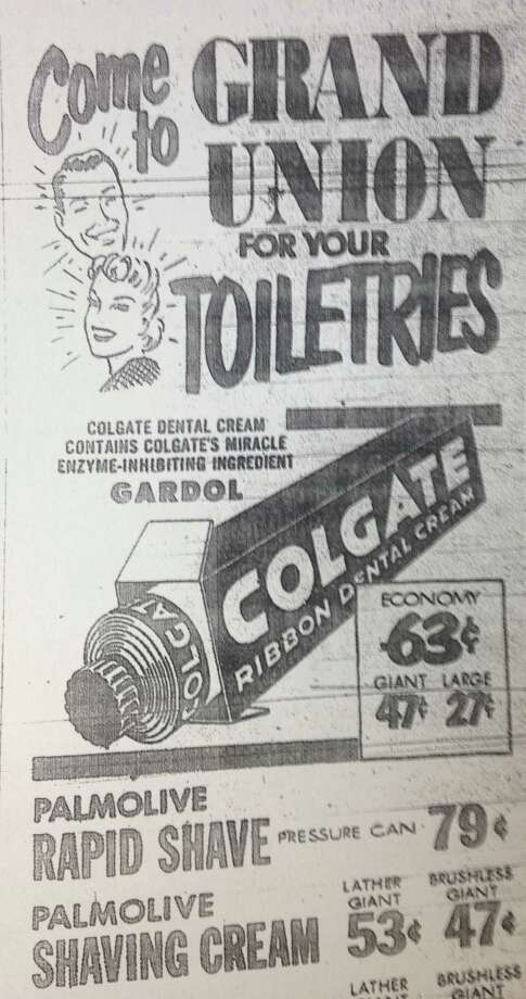 An ad from 1954 features some familiar brand names - at some unfamiliar prices. Photo: Contributed Photo / Greenwich Citizen