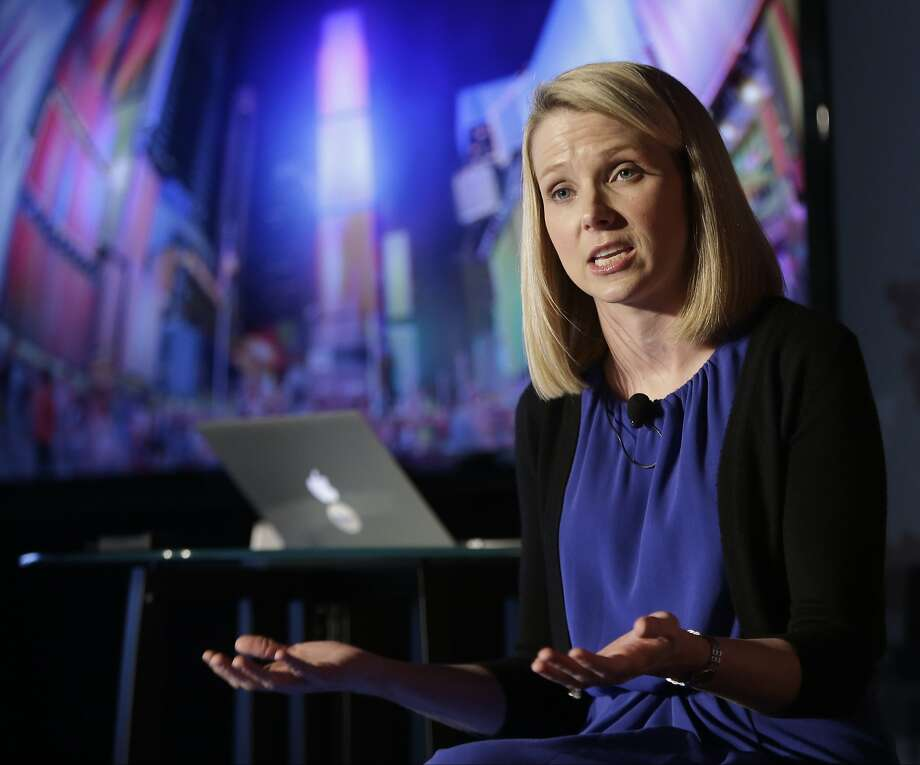 FILE - In this  Monday, May 20, 2013, file photo, Yahoo CEO Marissa Mayer speaks during a news conference in New York. Yahoo on Wednesday, Jan. 15, 2014 announced that Mayer is cutting loose her top lieutenant, a possible sign that the Internet company's efforts to revive its long-slumping advertising sales aren't paying off. (AP Photo/Frank Franklin II, File) Photo: Frank Franklin II, Associated Press