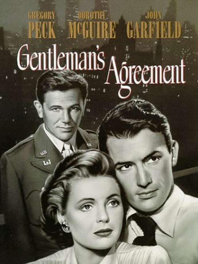 """Gentleman's Agreement""Where to watch: Amazon Instant VideoSynopsis: A reporter pretending to be Jewish learns first-hand the horrors of bigotry.Won: Best Picture, Best Director (Elia Kazan), and Best Supporting Actress (Celeste Holm)"