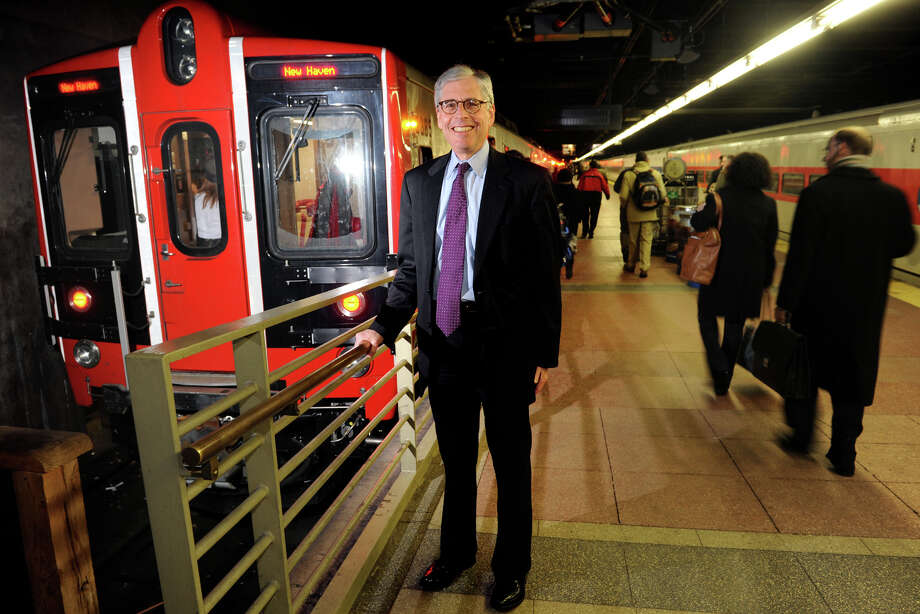 Howard Permut, President of MTA Metro-North Railroad, stands on a platform at Grand Central Terminal in New York City, Jan. 16, 2014. Permut, who has served as Metro-North President since 2008, recently announced that he will retire. Photo: Ned Gerard / Connecticut Post