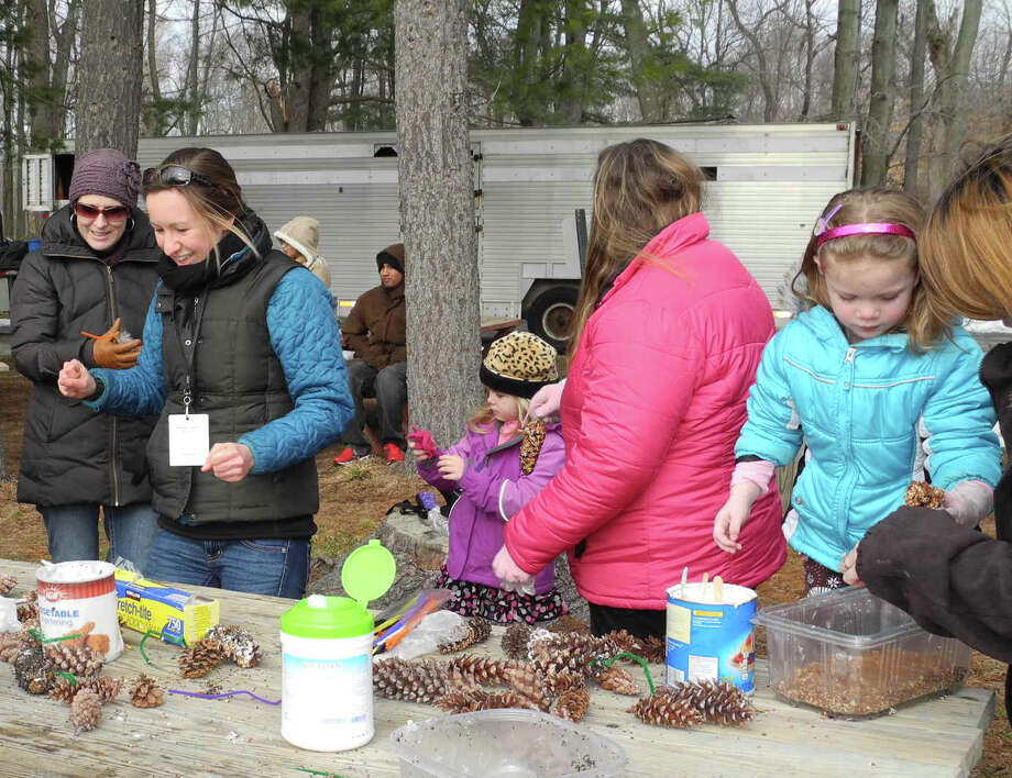"Westport's Earthplace sponsors a free ""open house,"" Saturday, Jan. 25, from 11 a.m. to 2 p.m. Numerous activities, including making pine cone bird feeders (above), will be offered. Photo: Contributed Photo / Connecticut Post Contributed"