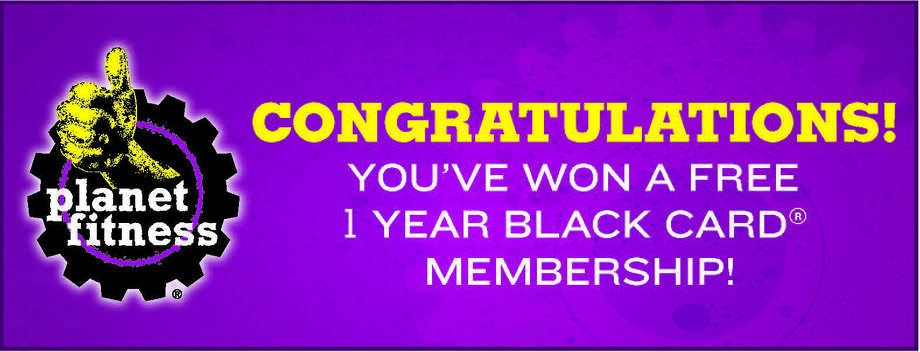 1-year Black Membership to Planet Fitness that allows you to bring a guest every day, unlimited use of tanning, massage chairs, HydroMassage beds, etc., 50% off cooler beverages and use of any Planet Fitness chain nationwide