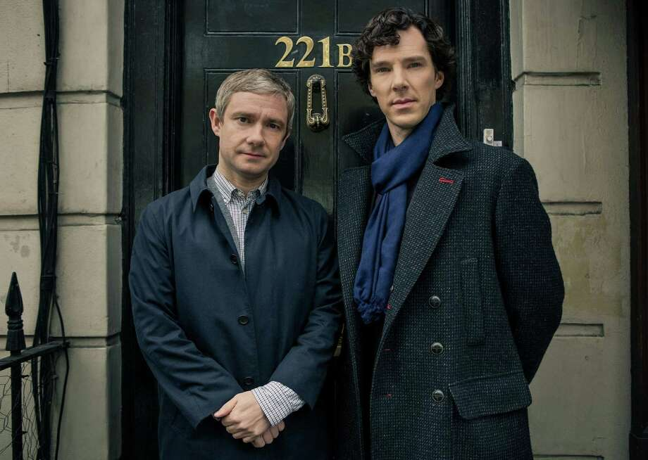 """Sherlock"" catches up with Dr. John Watson (Martin Freeman, left) and Sherlock Holmes (Benedict Cumberbatch) two years after the genius detective staged his death. Photo: PBS / MCT"