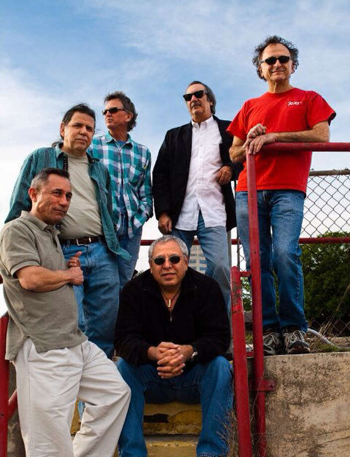 Los #3 Dinners are Jake Perales (from left), Frank Karpienski, Joe Shortt, Rudy Sanchez (seated), Lenny Friedland and Bart Nichols. Photo: Courtesy Josh Hutton / San Antonio Express-News