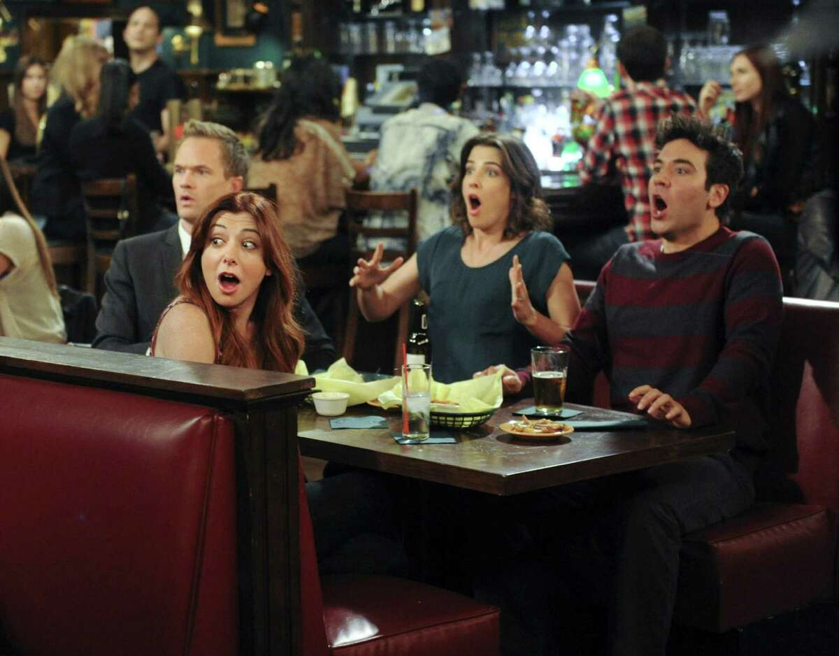 """Neal Patrick Harris (from left), Alyson Hannigan, Cobie Smulders and Josh Radnor appear in """"How I Met Your Mother."""" The show concludes March 31 after nine seasons."""