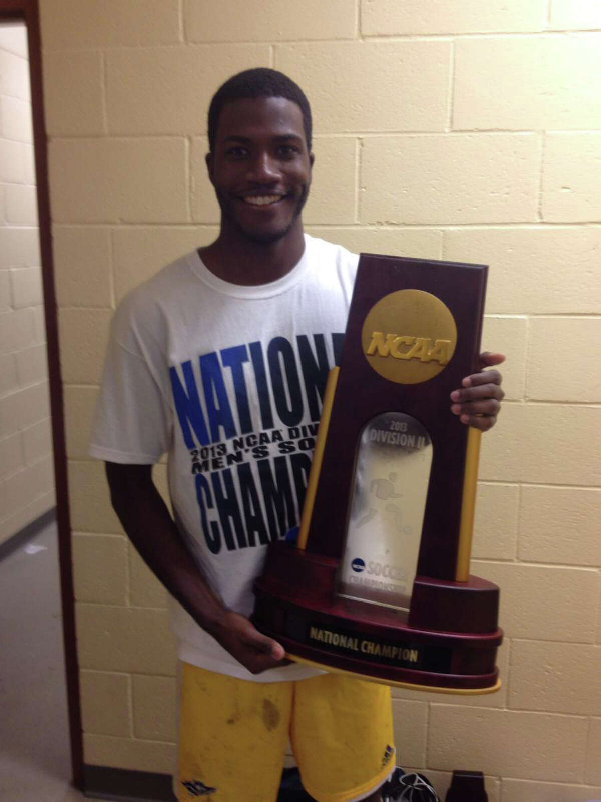 Kenny Doublette, a Greenwich High graduate, helped lead Southern New Hampshire University to the Divsion II men's soccer national championship.