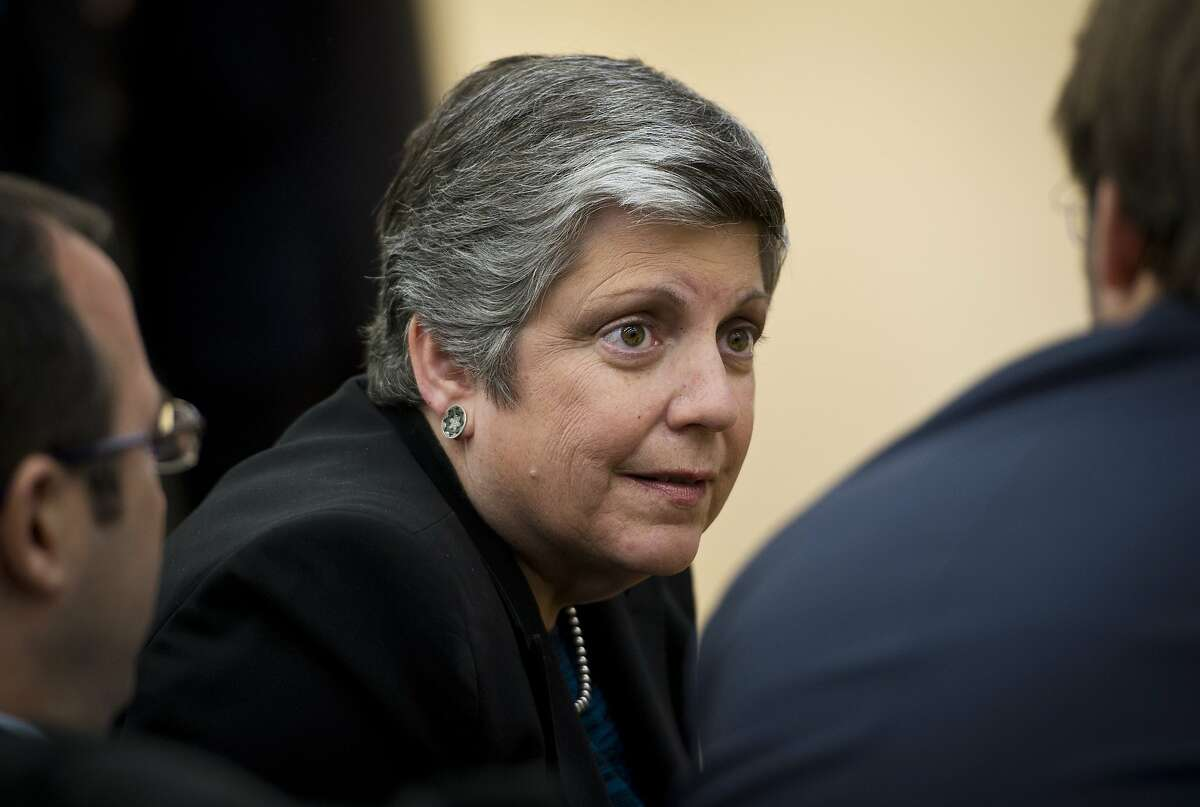 University of California President Janet Napolitano is seen at an event on expanding college opportunity in the South Court Auditorium of the Eisenhower Executive Office Building, next to the White House on January 16, 2014 in Washington, DC. AFP PHOTO/Mandel NGANMANDEL NGAN/AFP/Getty Images