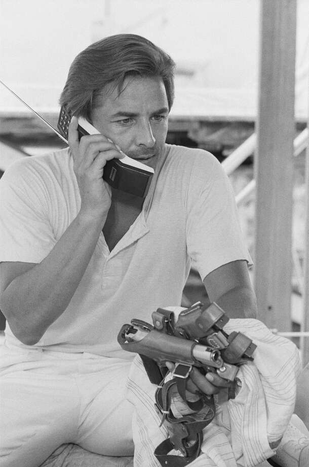 "It's pretty much a smartphone, except you can't walk as far or play ""Angry Birds.""PHOTO: Don Johnson uses a cordless phone as Detective James ""Sonny"" Crockett on an episode of ""Miami Vice"" in 1984. Photo: NBC, Getty Images / © NBC Universal, Inc."