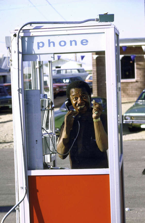 This was the last time anyone was excited to use a phone booth.PHOTO: Comedian Flip Wilson calls his office from a phone booth while on the road during a cross-country trip in 1972. Photo: John Dominis, Getty Images / Time Life Pictures