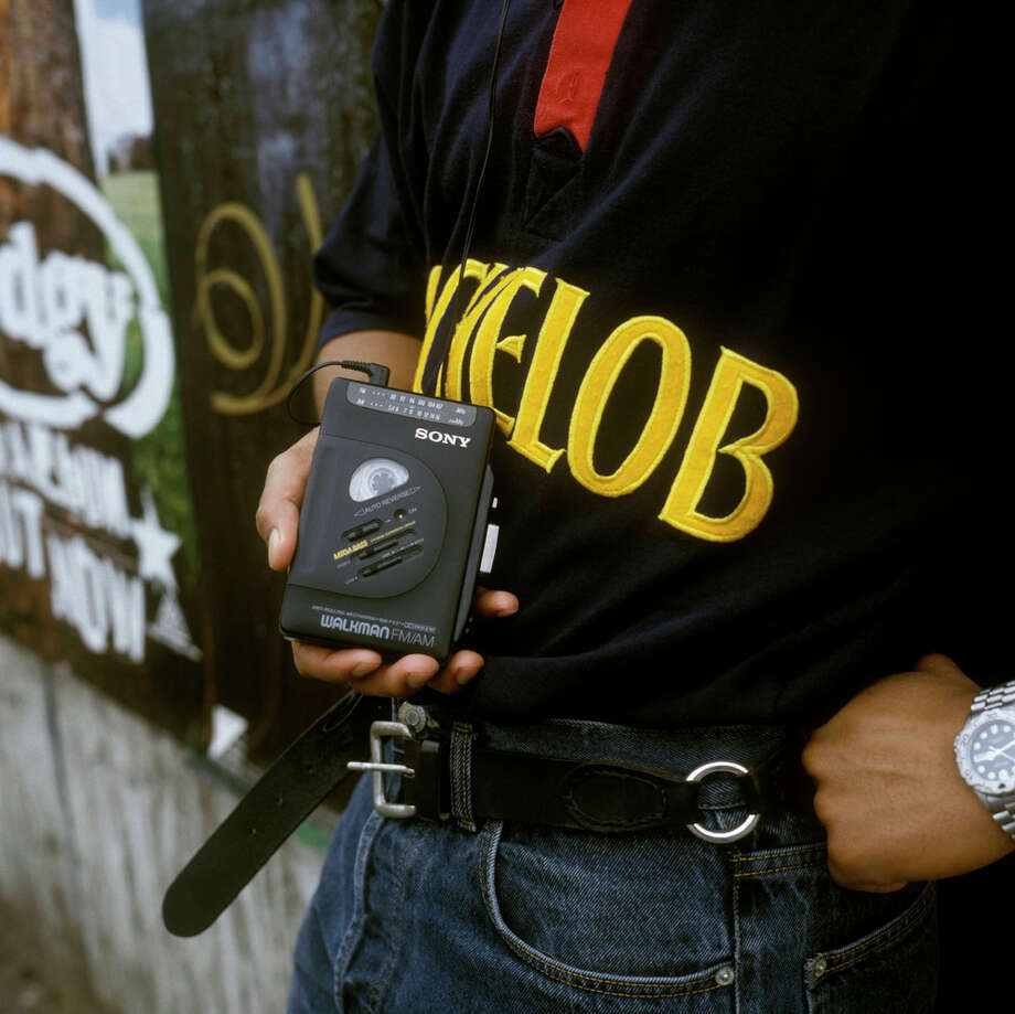 CDs came on the market in 1980s. Apparently, this guy missed the fax.PHOTO: A man carries a Sony Walkman circa 1996. Photo: David Redfern, Getty Images / Redferns