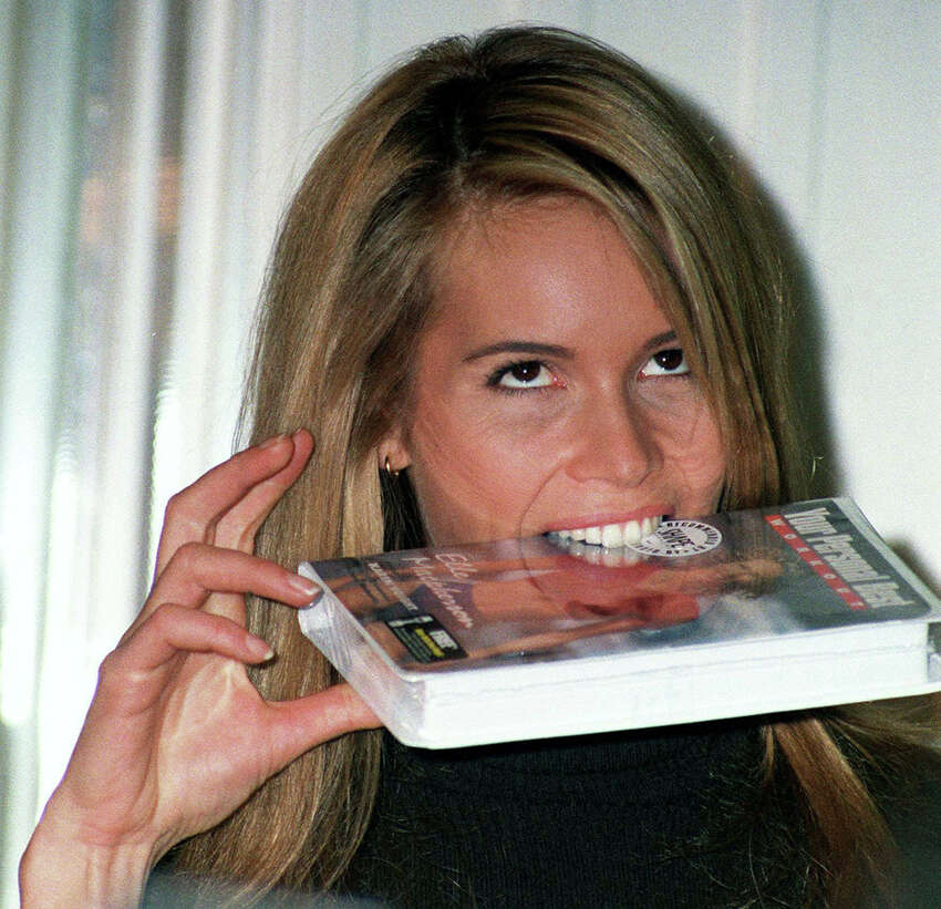 Elle has the right idea: maybe our old tapes can be used as a food source.PHOTO: Australian supermodel Elle Macpherson biting on a VHS copy of her fitness video