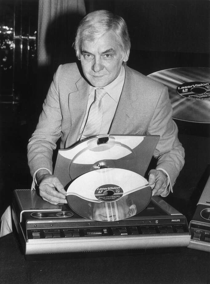 Let's be fair: These never really caught on in the first place.PHOTO: Jimmy Dunkley, divisional director of Philips LaserVision, poses with the player and a video disc at the unveiling of the machine in London on May 25, 1982. Photo: Monti Spry, Getty Images / 2011 Getty Images
