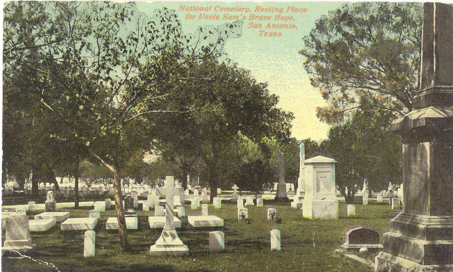 A postcard published in the early 1910s depicts San Antonio National Cemetery. It was established after the Civil War. Photo: Courtesy Fort Sam Houston Museum / San Antonio Express-News