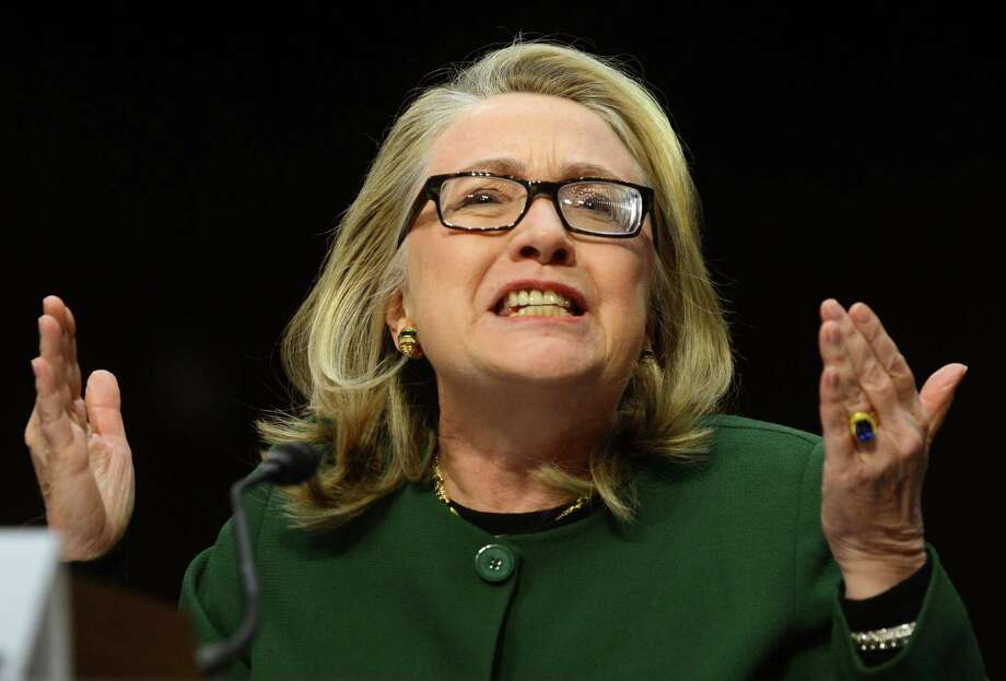 Former Secretary of State Hillary Clinton came in at 939 jokes. Photo: SAUL LOEB, Staff / AFP ImageForum