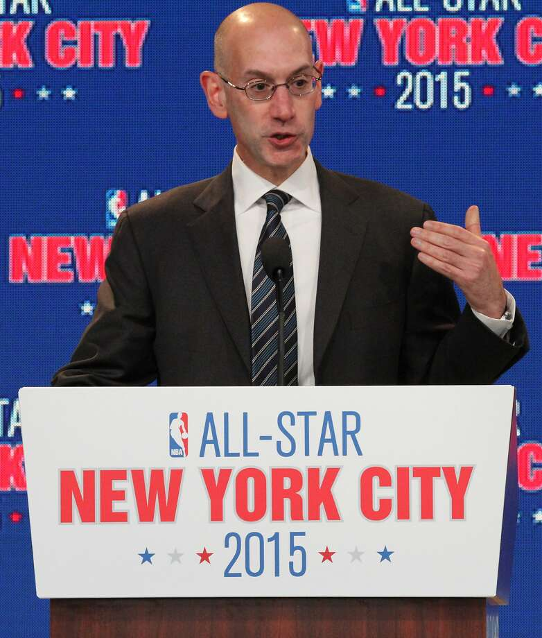 NBA deputy commissioner Adam Silver speaks during a press conference Wednesday Sept. 25, 2013, in New York, announcing the selection of the city to host the NBA All-Star game in 2015. The 64th NBA All-Star game is scheduled to be played at New York's Madison Square Garden Sunday Feb. 15, 2015 with Friday and Saturday night events being held at the Barclays Center in the Brooklyn borough of New York. (AP Photo/Tina Fineberg) Photo: Tina Fineberg, Associated Press