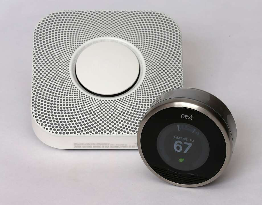 PROVO, UT - JANUARY 16: In this photo illustration, a Nest thermostat (R) and a smoke/carbon monoxide detector is seen on January 16, 2014 in Provo, Utah. Google bought Nest, a home automation company, for $3.2 billion taking Google further into the home ecosystem. (Photo illustration by George Frey/Getty Images) Photo: George Frey, Getty Images