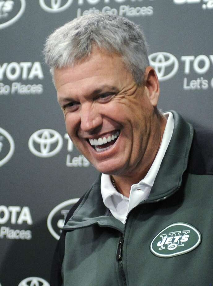 Rex Ryan is signed through at least the 2015 season. Photo: Bill Kostroun, Associated Press