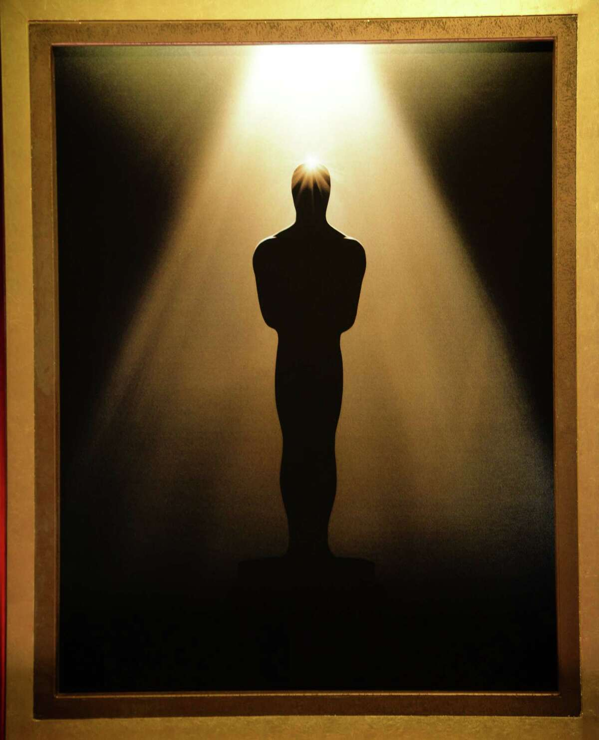 An image of an Oscar Statue is seen at the 86th Academy Awards nominations announcement, at the Academy of Motion Picture Arts and Sciences, January 16, 2014 in Beverly Hills, California. The Oscars will take place March 2, 2014 at the Dolby Theatre in Hollywood, California. AFP PHOTO / Robyn BECKROBYN BECK/AFP/Getty Images