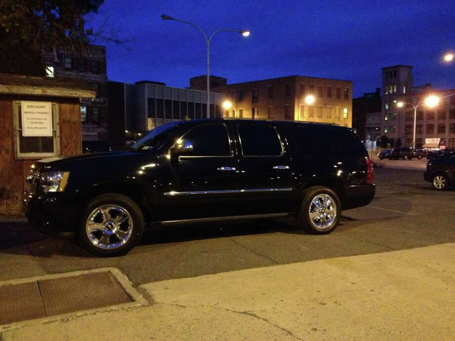 Albany County Executive Daniel McCoy drives this 2009 Chevrolet Suburban that's registered to the sheriff's department. (Times Union)