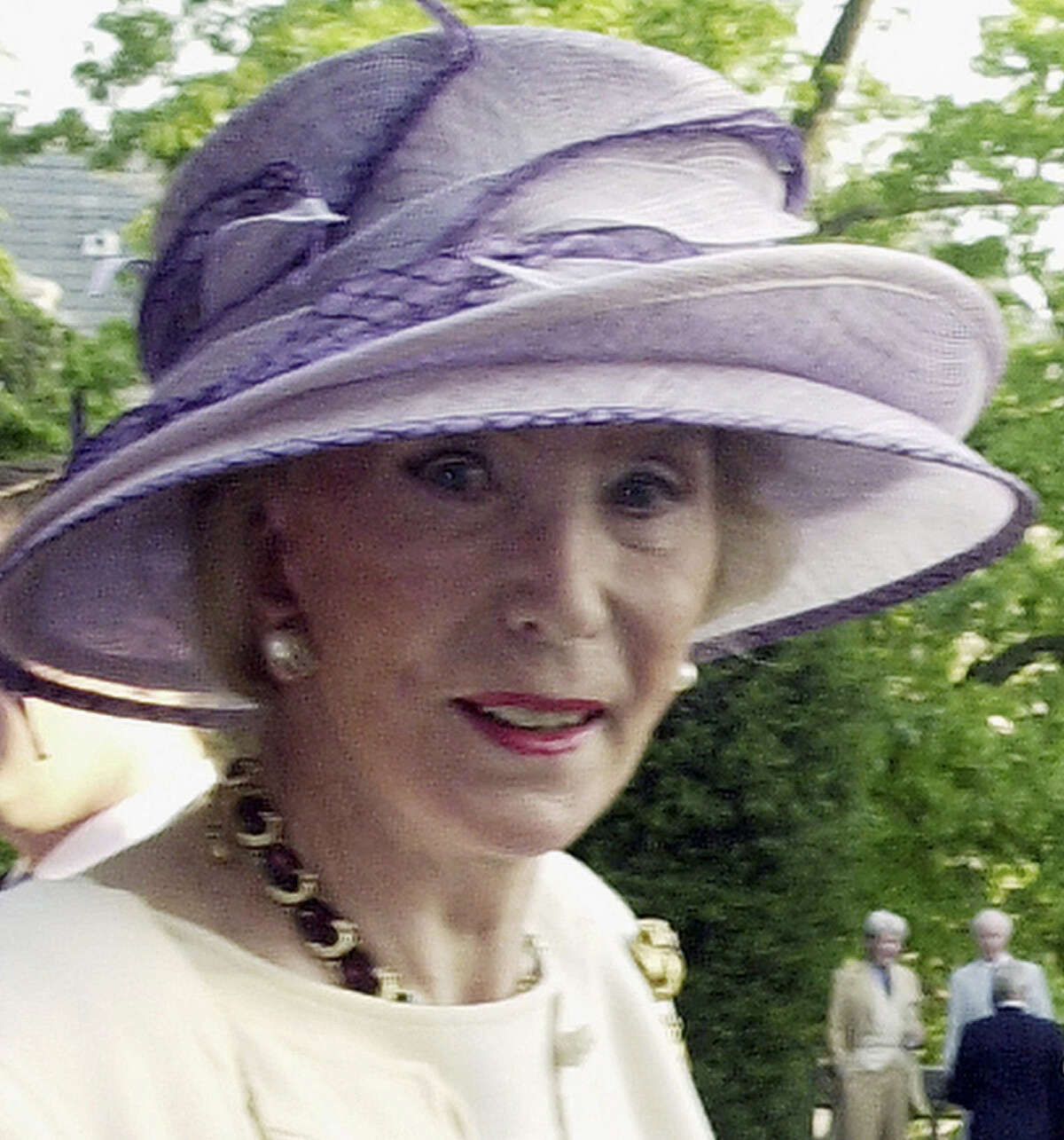 Viola Drath, 91, (shown during a 2004 garden party) was killed by her husband, 49, a jury has found.
