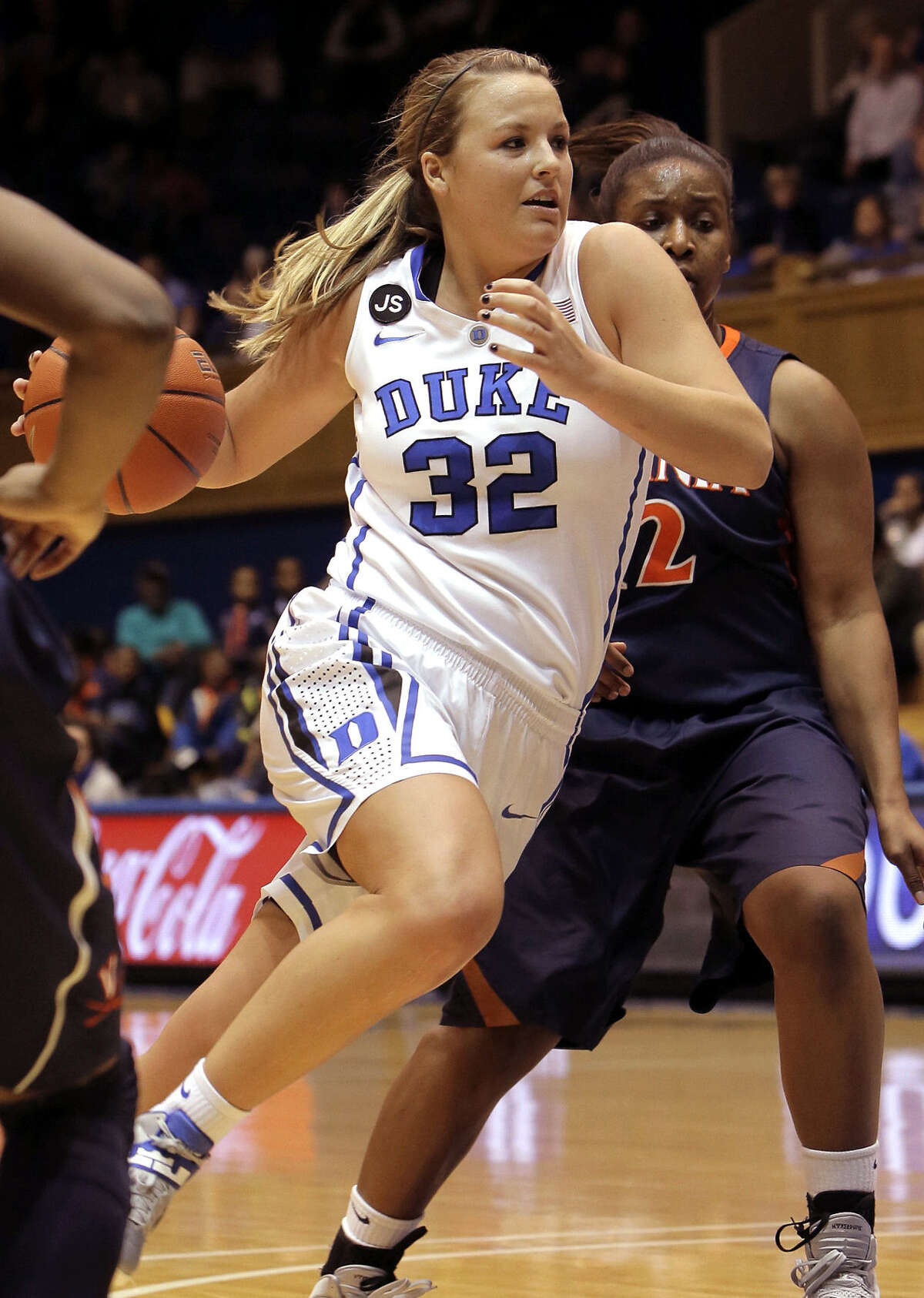 Duke's Tricia Liston, who scored a game-high 21 points, drives to the basket in the No. 3 Blue Devils' 90-55 win.
