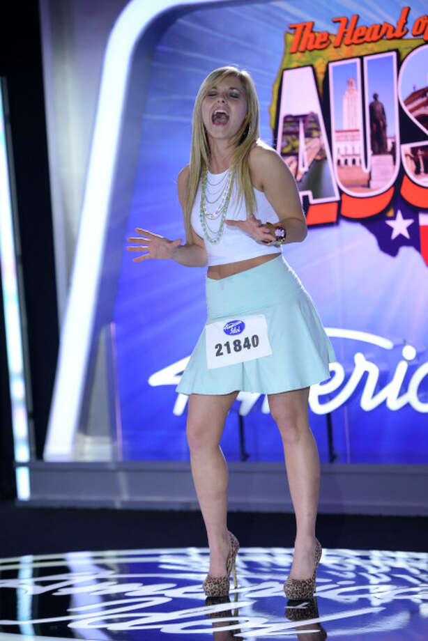 AMERICAN IDOL XIII: Austin Auditions: Contestant Anna Melvin auditions in front of the judges on AMERICAN IDOL XIII airing Thursday, Jan. 16 (8:00-10:00 PM ET/PT) on FOX. CR: Michael Becker / FOX. © 2014 FOX BROADCASTING. / 1