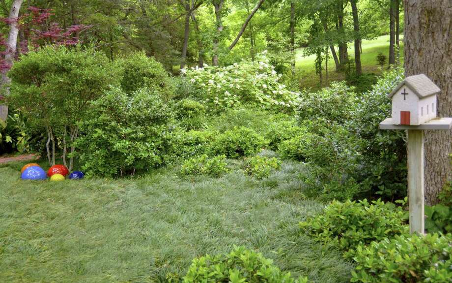 Mondo grass covers shaded areas in Neil Sperry's  landscape. Photo: Courtesy Neil Sperry