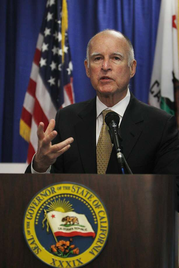 California Governor Jerry Brown speaks during a press conference where he declared a drought  State of Emergency in San Francisco. Photo: Lea Suzuki, The Chronicle