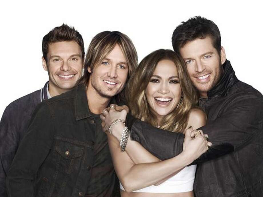 "Ryan Seacrest and new trio of judges...including 'Hatchet Harry"" Connick, Jr. Photo: Fox"