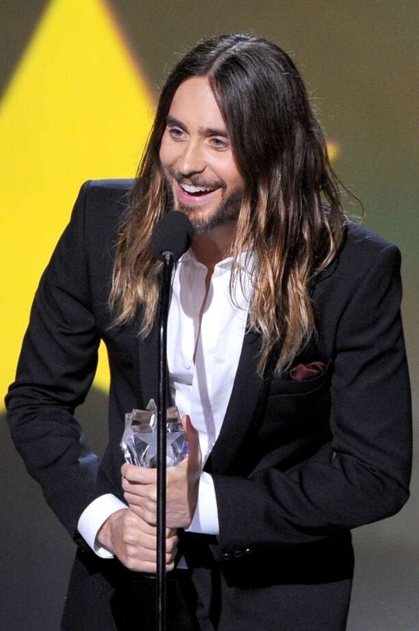 "Actor Jared Leto accepts the Best Supporting Actor award for ""Dallas Buyers Club"" onstage during the 19th Annual Critics' Choice Movie Awards at Barker Hangar on January 16, 2014 in Santa Monica, California. Photo: Kevin Winter, Getty Images"