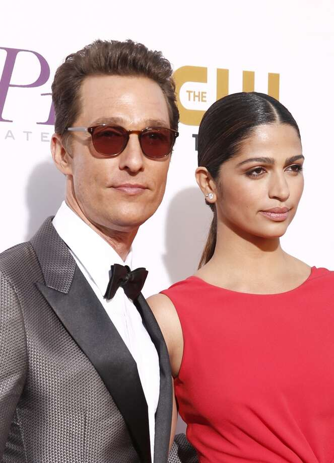 Actor Matthew McConaughey (L) and Camila Alves attend the 19th Annual Critics' Choice Movie Awards at Barker Hangar on January 16, 2014 in Santa Monica, California. Photo: Christopher Polk, Getty Images