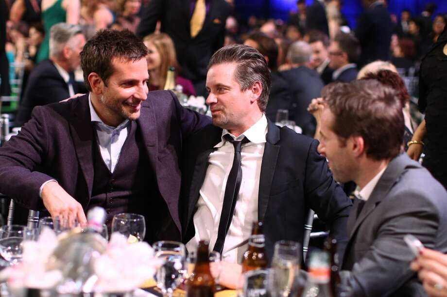 (L-R) Actors Bradley Cooper, Shea Whigham, and Alessandro Nivola attend the 19th Annual Critics' Choice Movie Awards at Barker Hangar on January 16, 2014 in Santa Monica, California. Photo: Christopher Polk, Getty Images