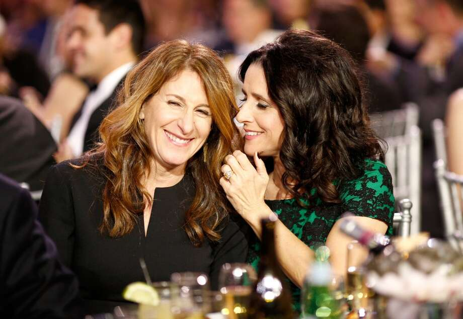 Director Nicole Holofcener and actress Julia Louis-Dreyfus attend the 19th Annual Critics' Choice Movie Awards at Barker Hangar on January 16, 2014 in Santa Monica, California. Photo: Christopher Polk, Getty Images