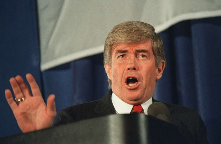 Jack Kemp: Kemp was, for 10 years, a star quarterback in the old American Football League, playing with the San Diego Chargers and Buffalo Bills. He was the AFL's most valuable player. He even had an injured finger repaired in a bent, ball-hugging position.  Kemp went to Congress in 1971, soon after retiring, and became an articulate advocate of conservative ideas. He ran for President in 1988, and went on to serve as HUD Secretary in the first Bush administration. He was Republican vice presidential nominee in 1996. Photo: BOB DAUGHERTY, Associated Press