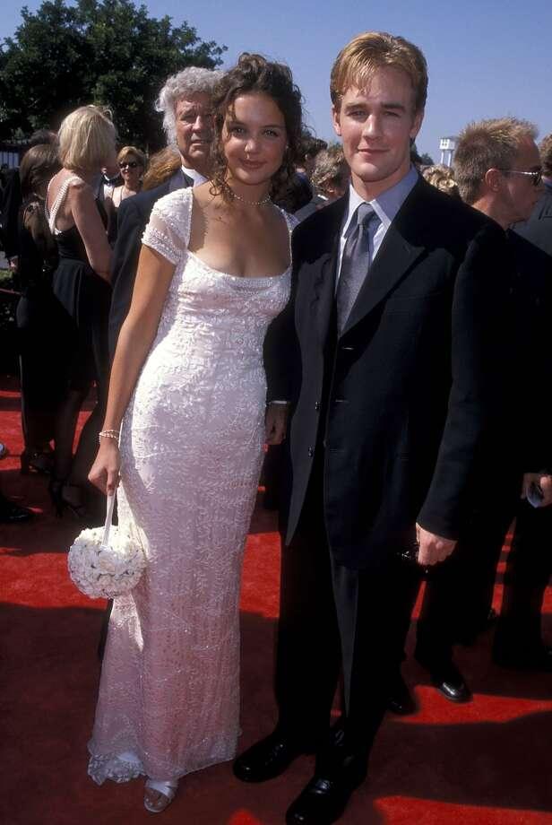 Van Der Beek and Katie Holmes in 1998. Photo: Ron Galella, Ltd., WireImage