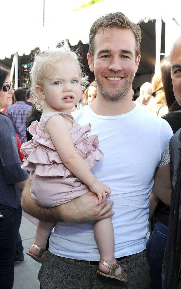 James Van Der Beek and daughter Olivia Van Der Beek in 2012. Photo: Michael Kovac, Getty Images For John Varvatos