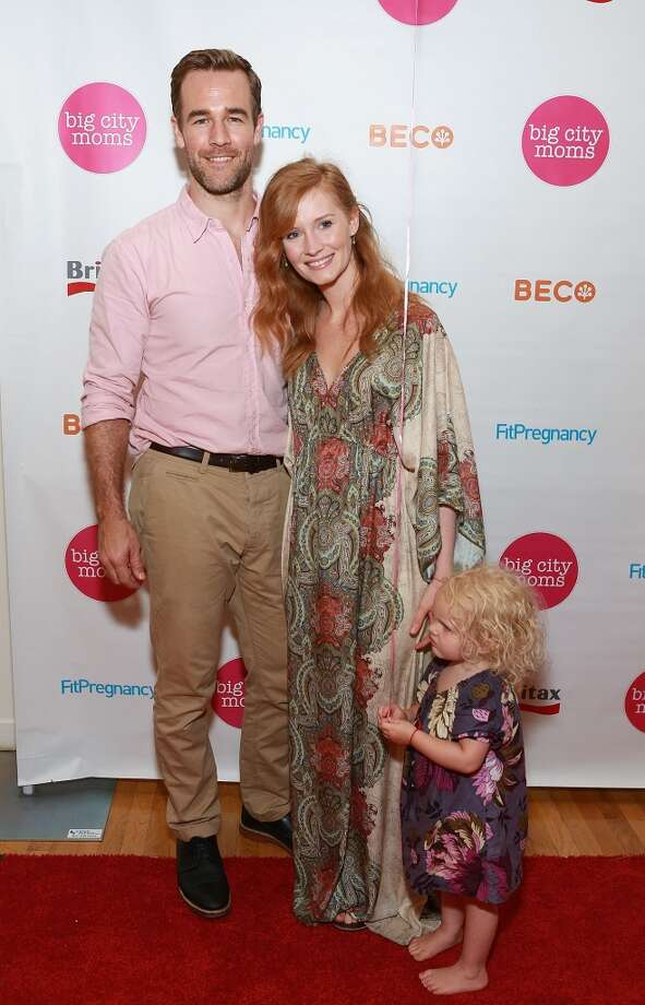 James and Kimberly Van Der Beek with Olivia in 2013. They also have a son, Joshua. Photo: Robin Marchant, Getty Images