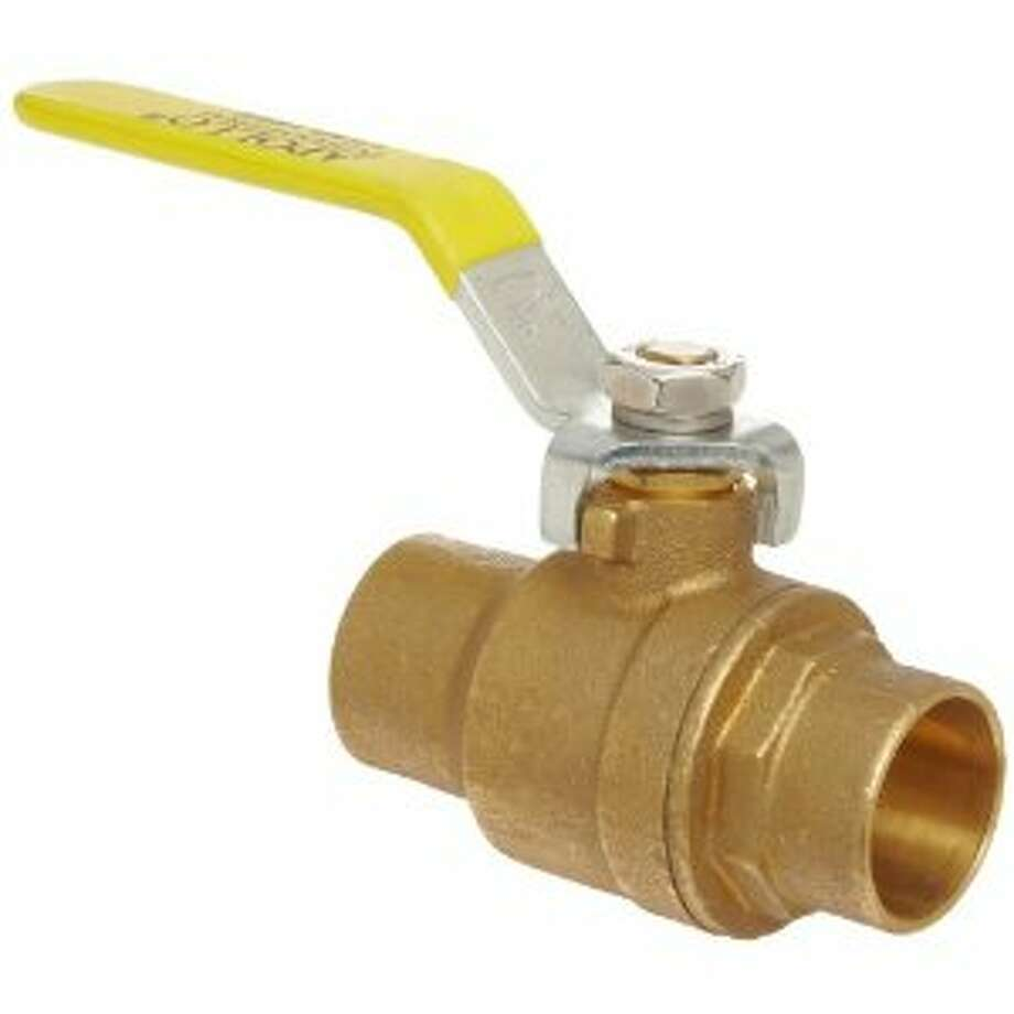 Lever water main valve (Lowes)