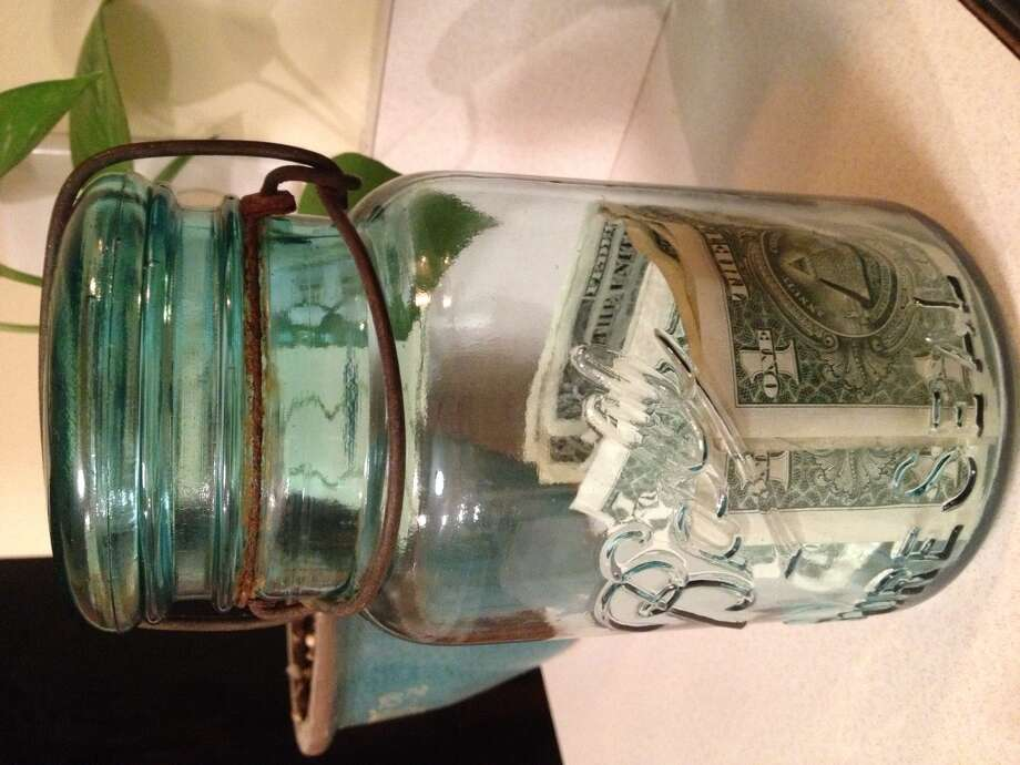 Shannon's money jar.