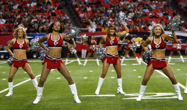 ATLANTA - SEPTEMBER 03:  The Atlanta Falcons cheerleaders perform during the preseason game against the Baltimore Raves at Georgia Dome on September 3, 2009 in Atlanta, Georgia.  (Photo by Kevin C. Cox/Getty Images) Photo: Kevin C. Cox, Getty Images / 2009 Getty Images