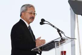 Mayor Ed Lee gives his State of the City speech on Friday, January 17, 2014 in San Francisco, Calif.